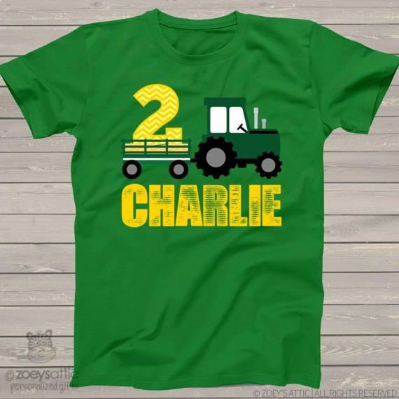 Tractor Birthday Boy Shirt FREE SHIPPING birthday boy,Tractor,Tractor shirts,personalized birthday shirt
