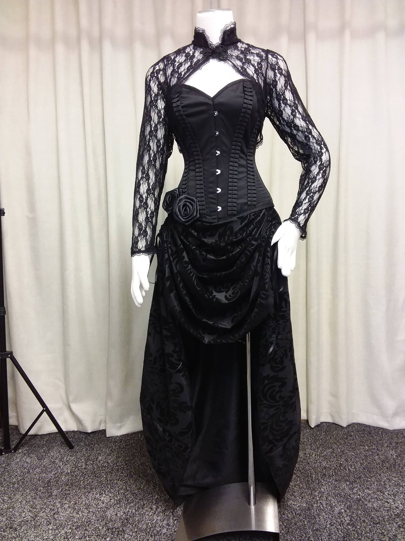 Steampunk dress, hi low dress, Gothic dress, Halloween costume ...