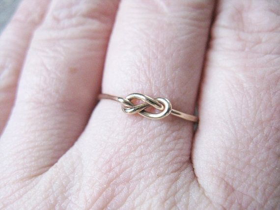 Infinity+Ring+14k+Gold+Fill+Stacking+Ring+Knot+by+AutumnEquinox,+$17.00