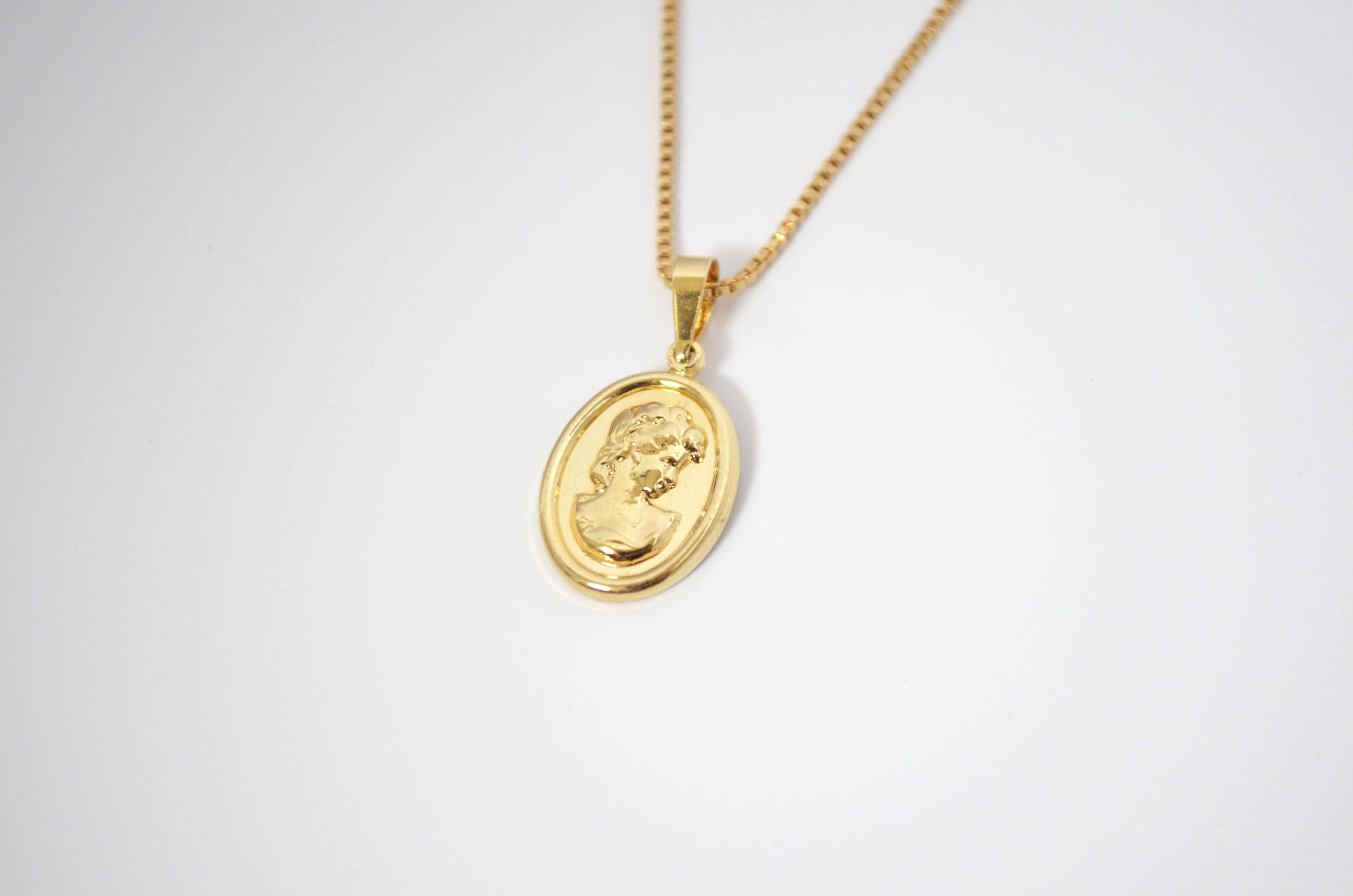 free watches shipping and gold necklace overstock guardian jewelry chain angel wheat today medallion our product yellow