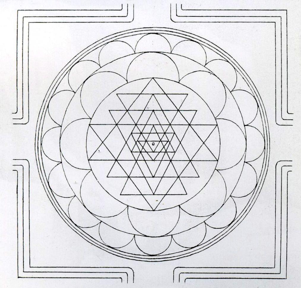 How To Draw The Sri Chakra Yantra Sacred Geometry Patterns Sri