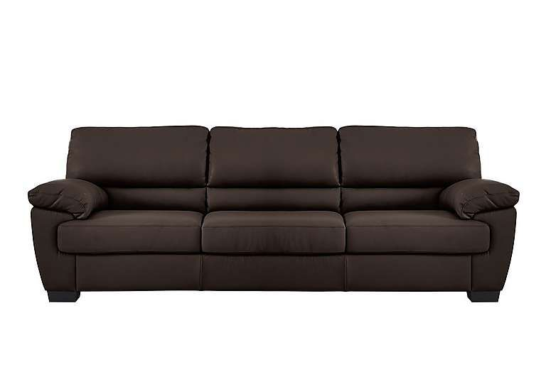 Furniture Village Alvera 3 Seater Leather Sofa Modern Style Sofa With Elegant Curved Lines Exceptional Comfort And Quality At A Great Value Price Cho
