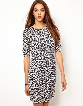 9ece7a3730 Image 1 of Whistles Jocelyn Safari Leopard Print Bodycon Dress ...