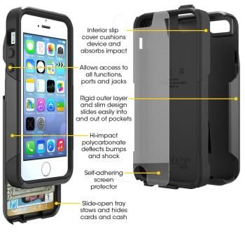 100% authentic 542ce a35e0 OtterBox Commuter Series Wallet Case for iPhone 5 & 5S Check out our ...