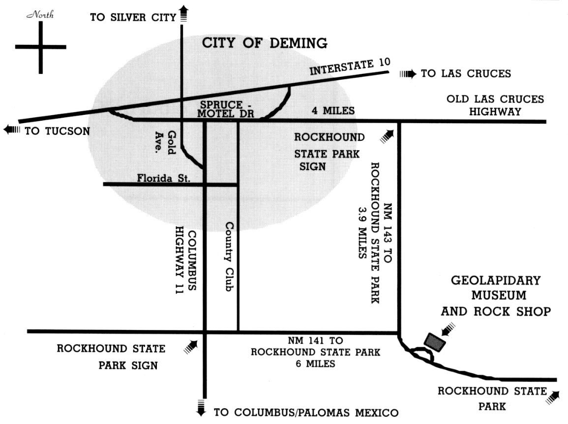 Map to the Museum from Deming, New Mexico | I\'ve been there ...