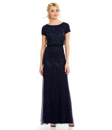 Adrianna Papell Beaded Blouson Gown   Shops, The o\'jays and ...