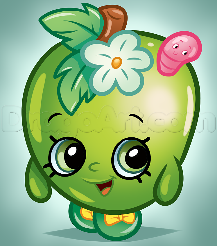 Shopkins apple blossom. How to draw from