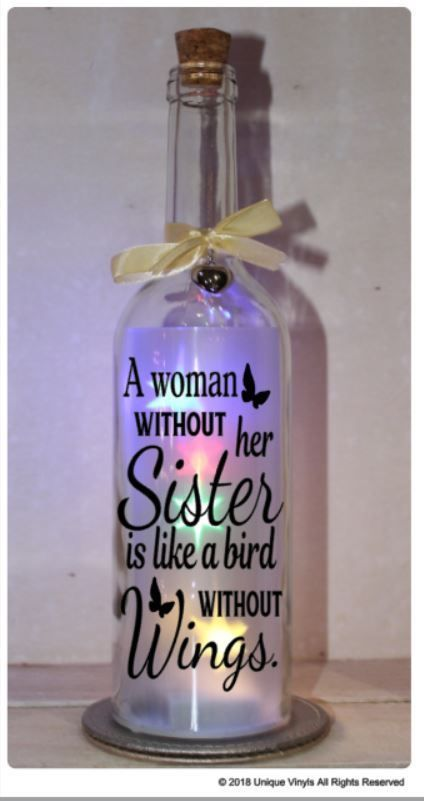 Star bottle led light up a woman without her sister vinyl sticker bottle bottle bottle lights and glass bottle
