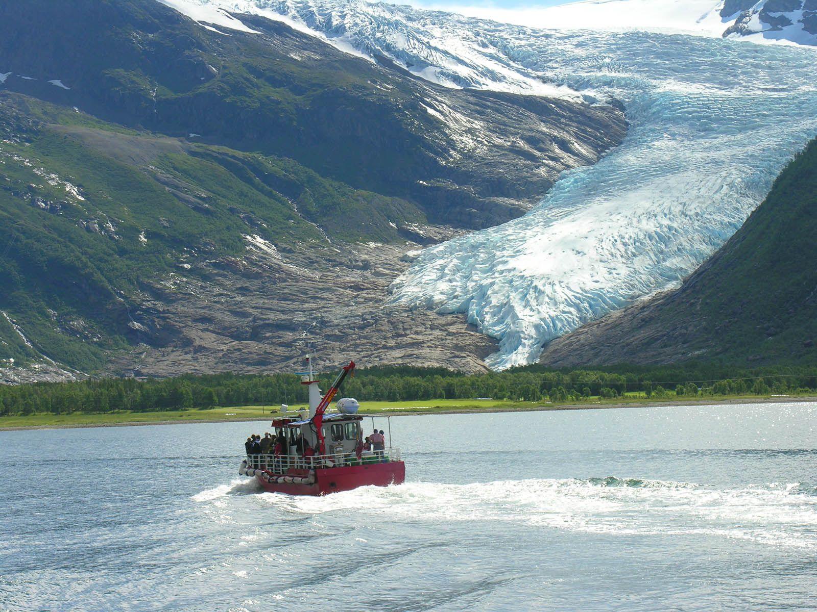 Svartisen Glacier near Mo i Rana, Norway