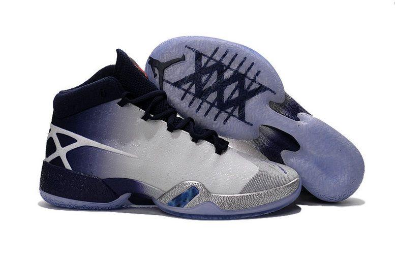 Authentic Air Jordan XXX AJ30 Blue Purple White Silver Basketball Shoe