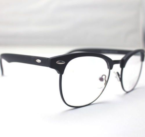1ec19bbaac5 Amazon.com  Glasses frames hipster KE Vintage Retro Brow Line Matte Black  SHURON S Style Eyeglass Frames Spectacles RX  Clothing