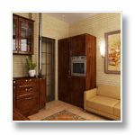Дизайн-проекты типовой 2-х комнатной квартиры серии П-44Т.