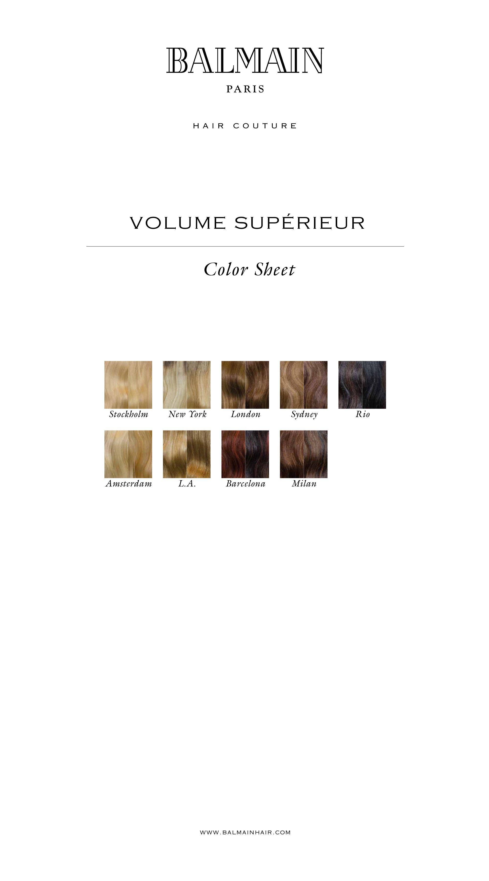 Balmain Color Overview Elegance Volume Superieur