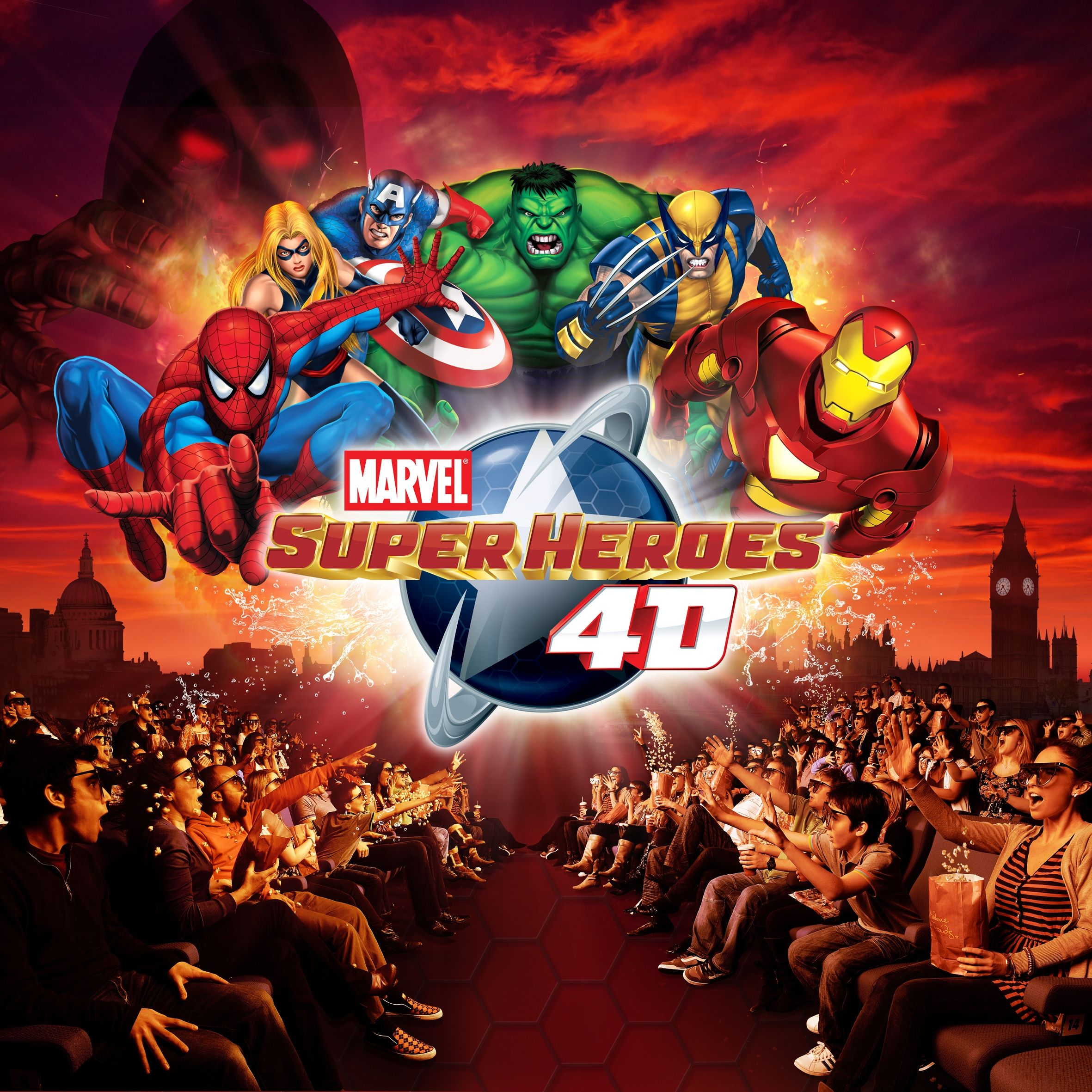 marvel comics 4d madame tussauds