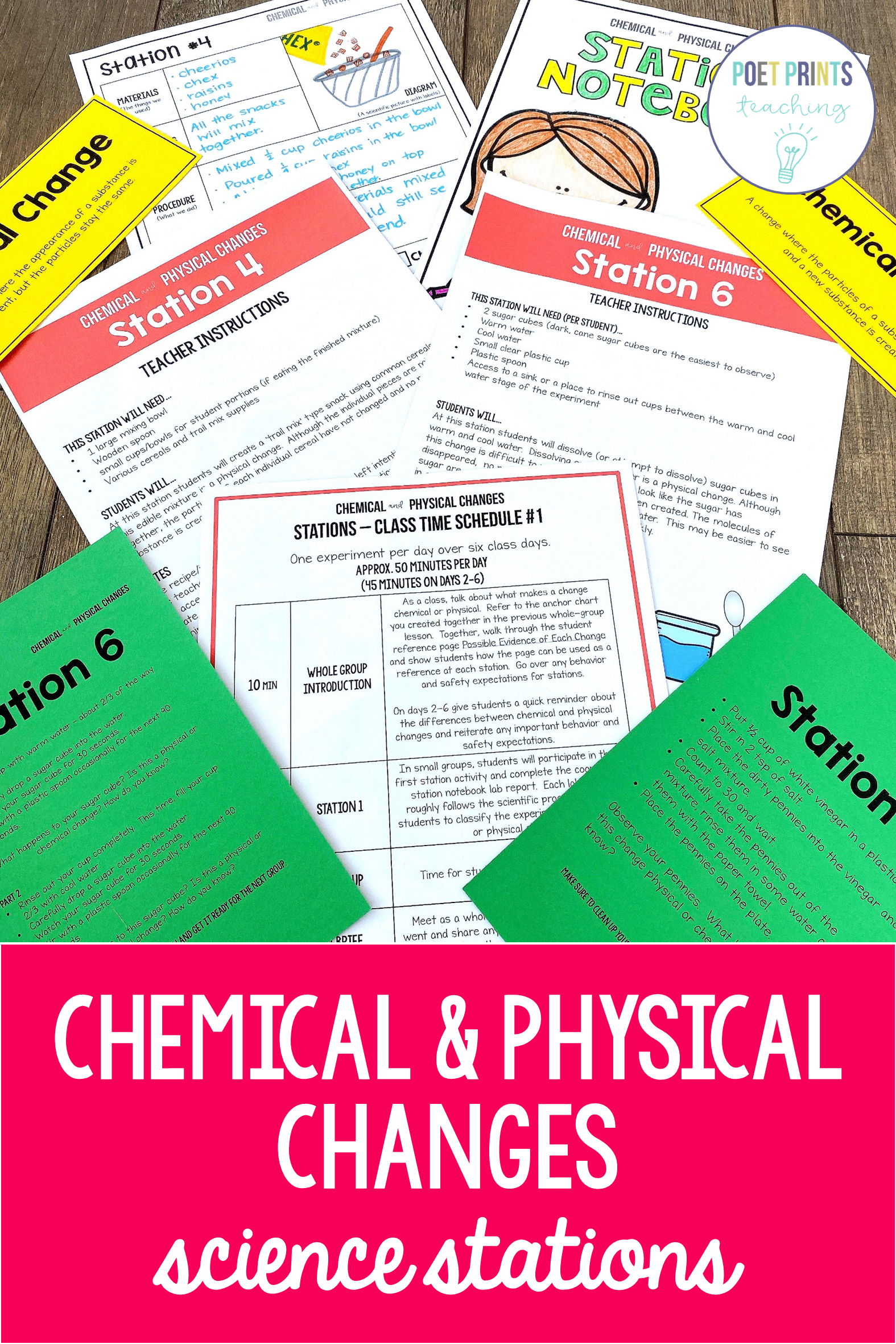 Chemical And Physical Changes Science Stations
