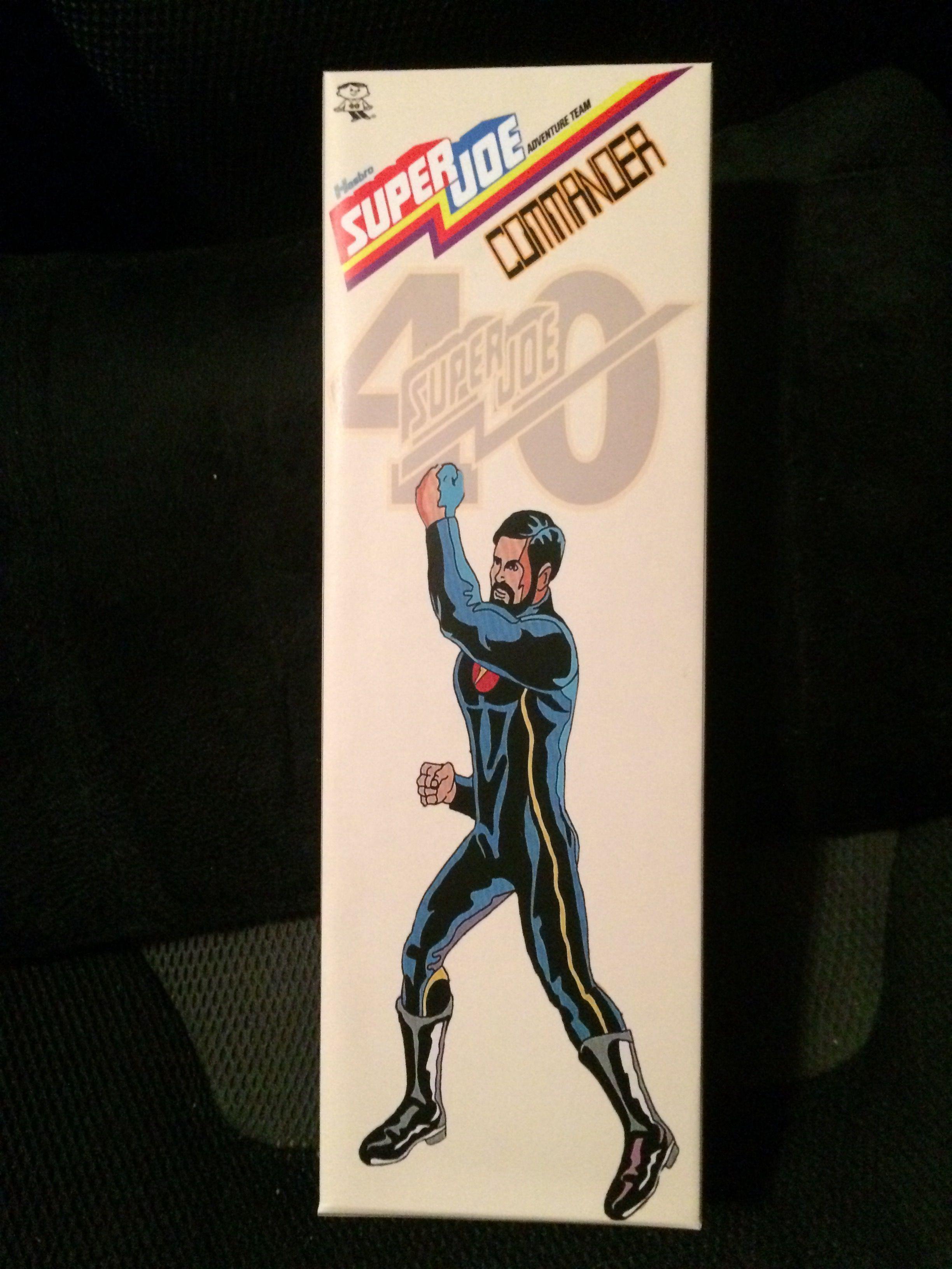 Custom 12 inch 40th Anniversary Super Joe Commander  Coffin Box $15.00 + Shipping