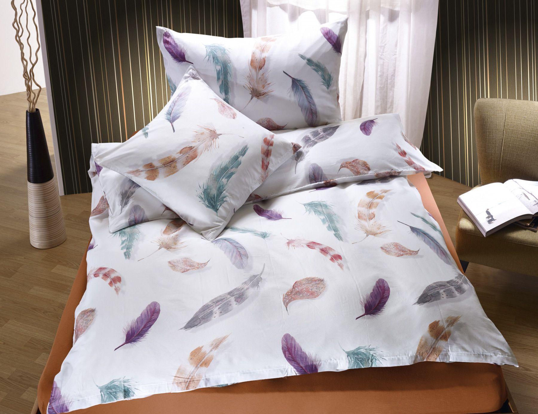 Bettwasche Mit Bunten Federn Bettwasche Schone Bettwasche Bett