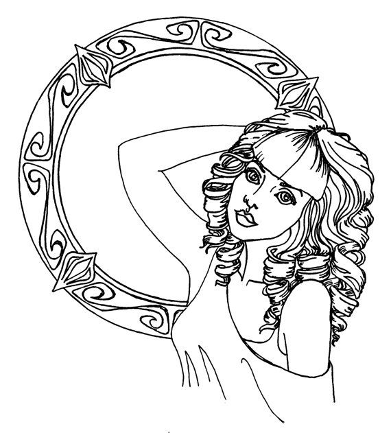 Sirens of Song Adult Coloring Book Pages by SweetLikeAntiFreeze ...