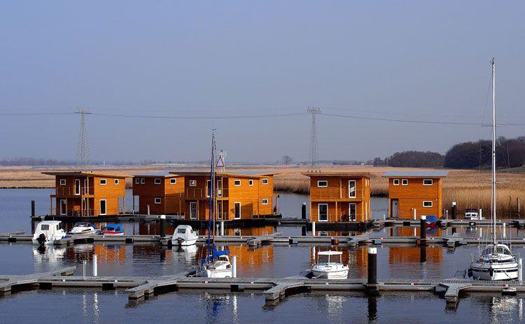 Hausboot kaufen floating 30 Liegeplätze an der Ostsee