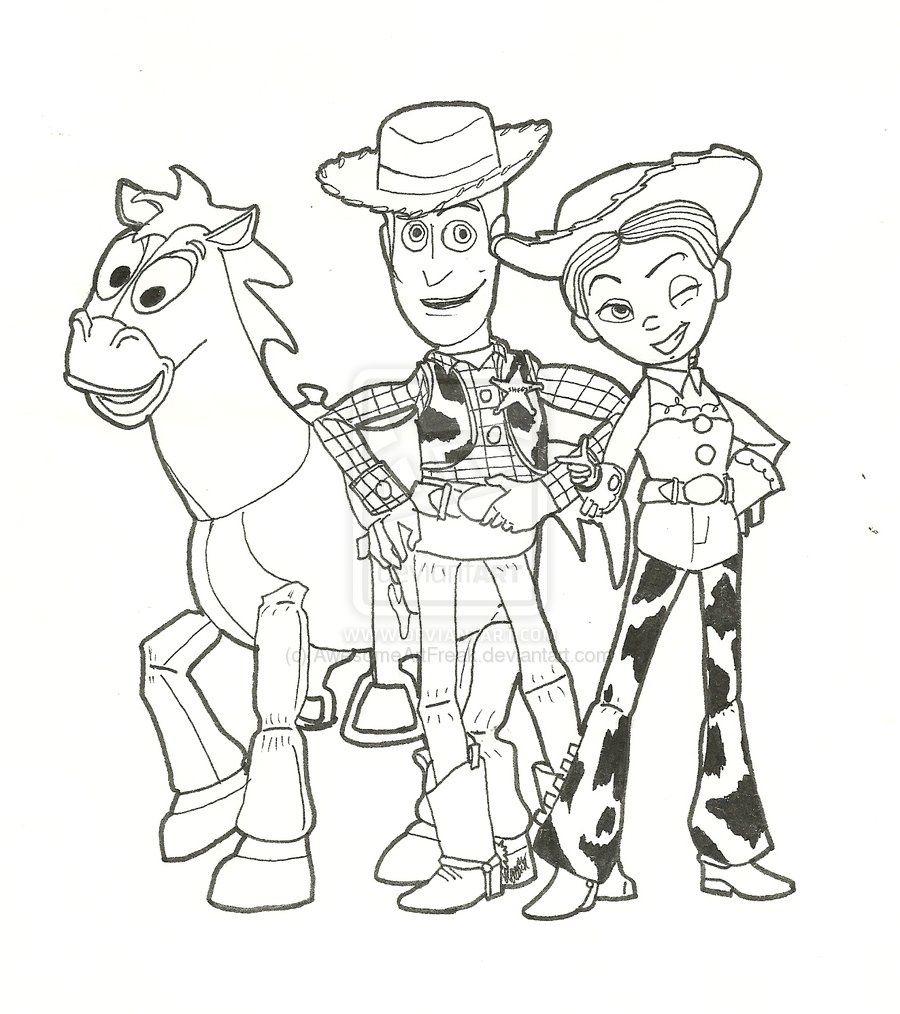 Toy Story Coloring Page Toy story coloring pages, Jessie