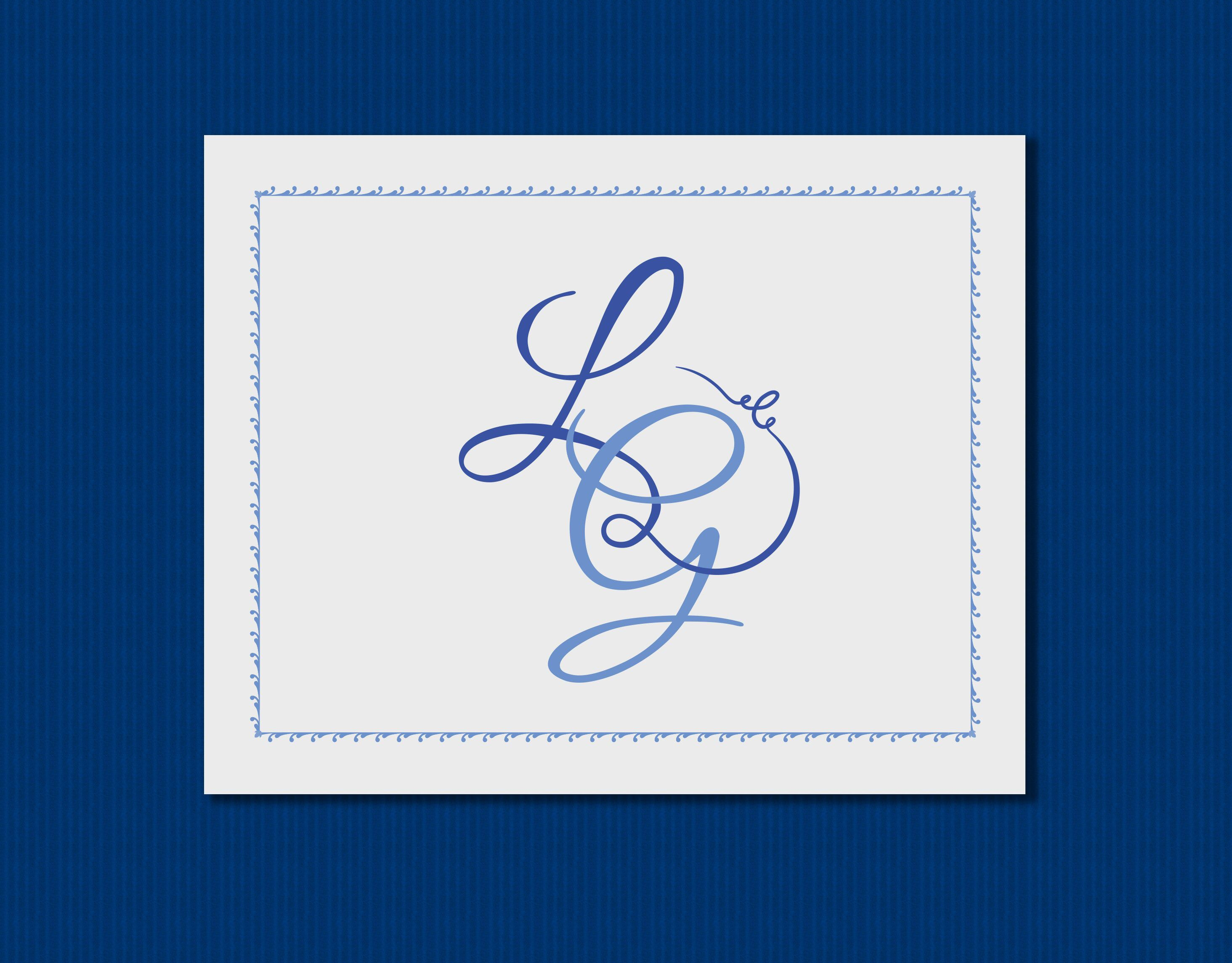 Printable Custom Made Monogram Digital Note Card Printable Etsy Monogrammed Note Cards Printable Note Cards Note Cards
