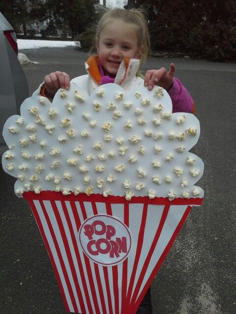 d1a740fd4 100 day project! 100 peices of popcorn! | Kids- School, Crafts, etc ...
