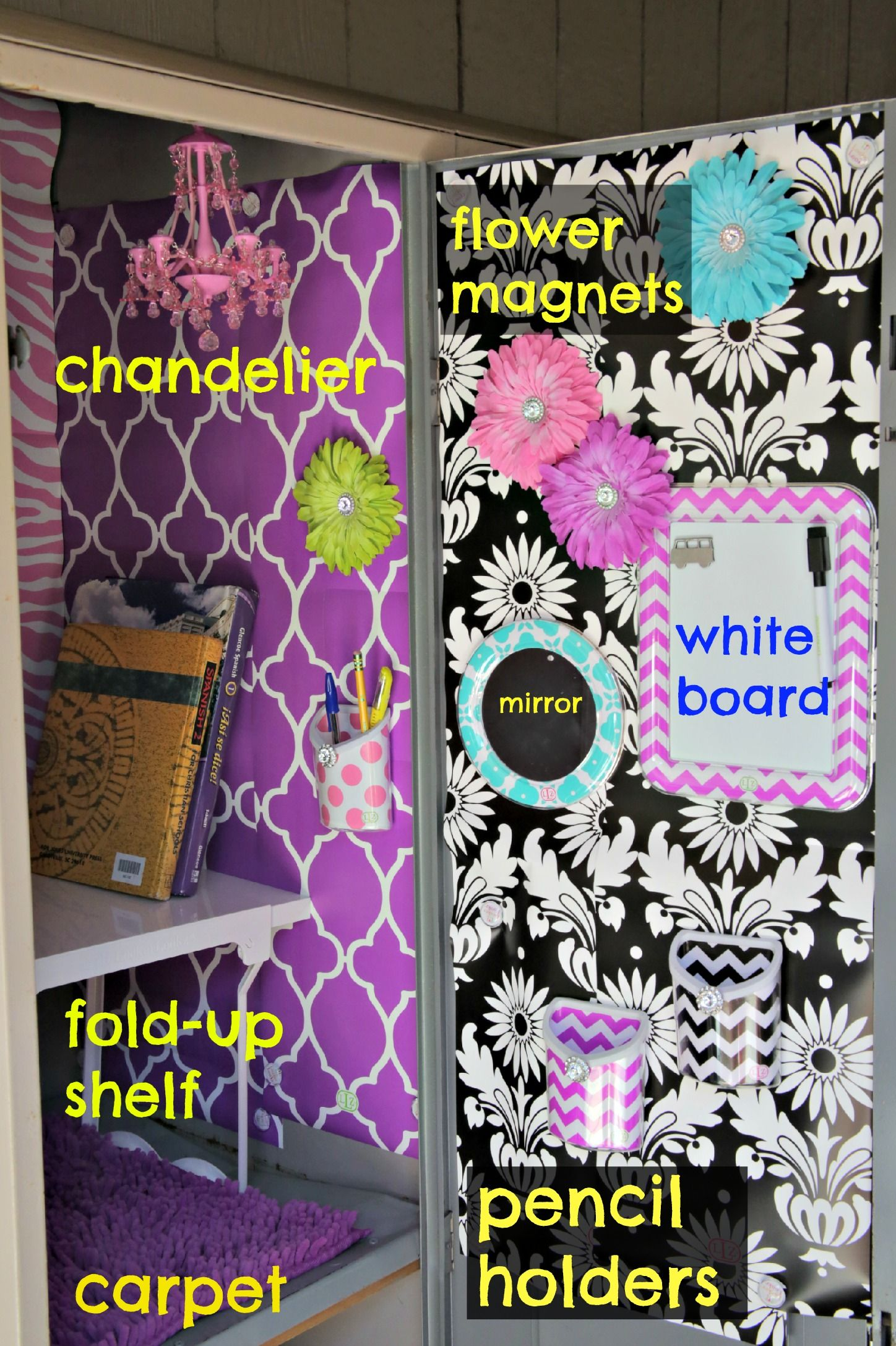 Locker Designs Ideas how to decorate a gym locker with lockerlookz Find This Pin And More On Locker Decorating Ideas