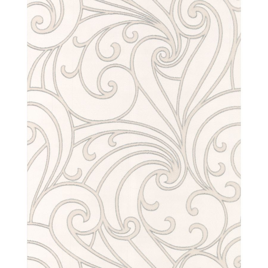 Shop Graham & Brown Silver and Cream Peelable Vinyl