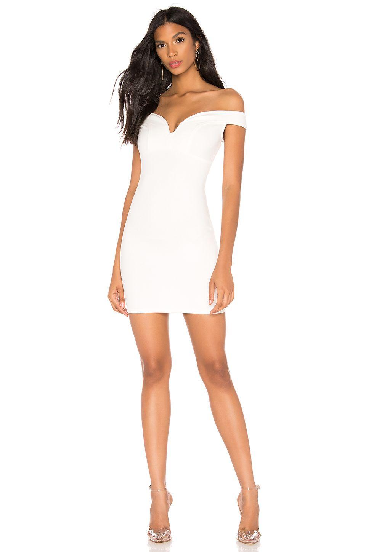 Superdown Karmen Off Shoulder Dress In White Revolve [ 1450 x 960 Pixel ]