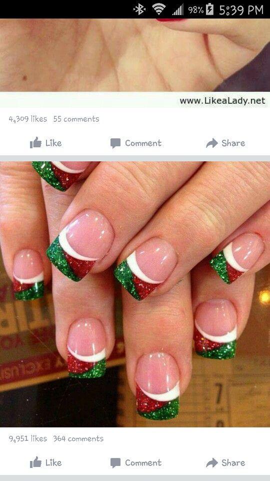 Pin by Sylvia van Bakel on Christmas nails | Pinterest | Xmas nails ...