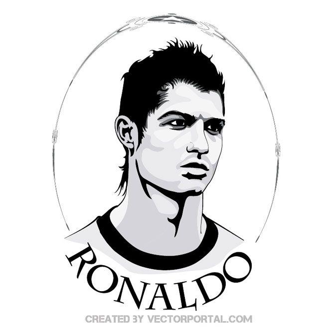 Cristiano Ronaldo Portrait Free Vector Cristiano Ronaldo Ronaldo Ronaldo Pictures