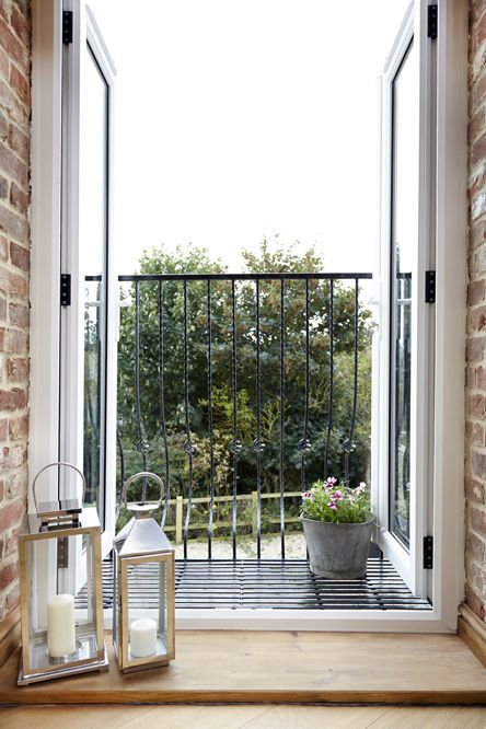 French doors leading onto juliet balcony pinteres for Upvc balcony doors