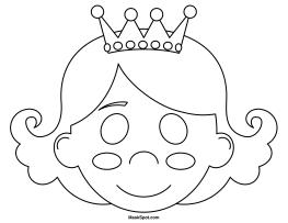 Printable Princess Mask Cinderella Coloring Pages Mermaid Coloring Pages Coloring Mask
