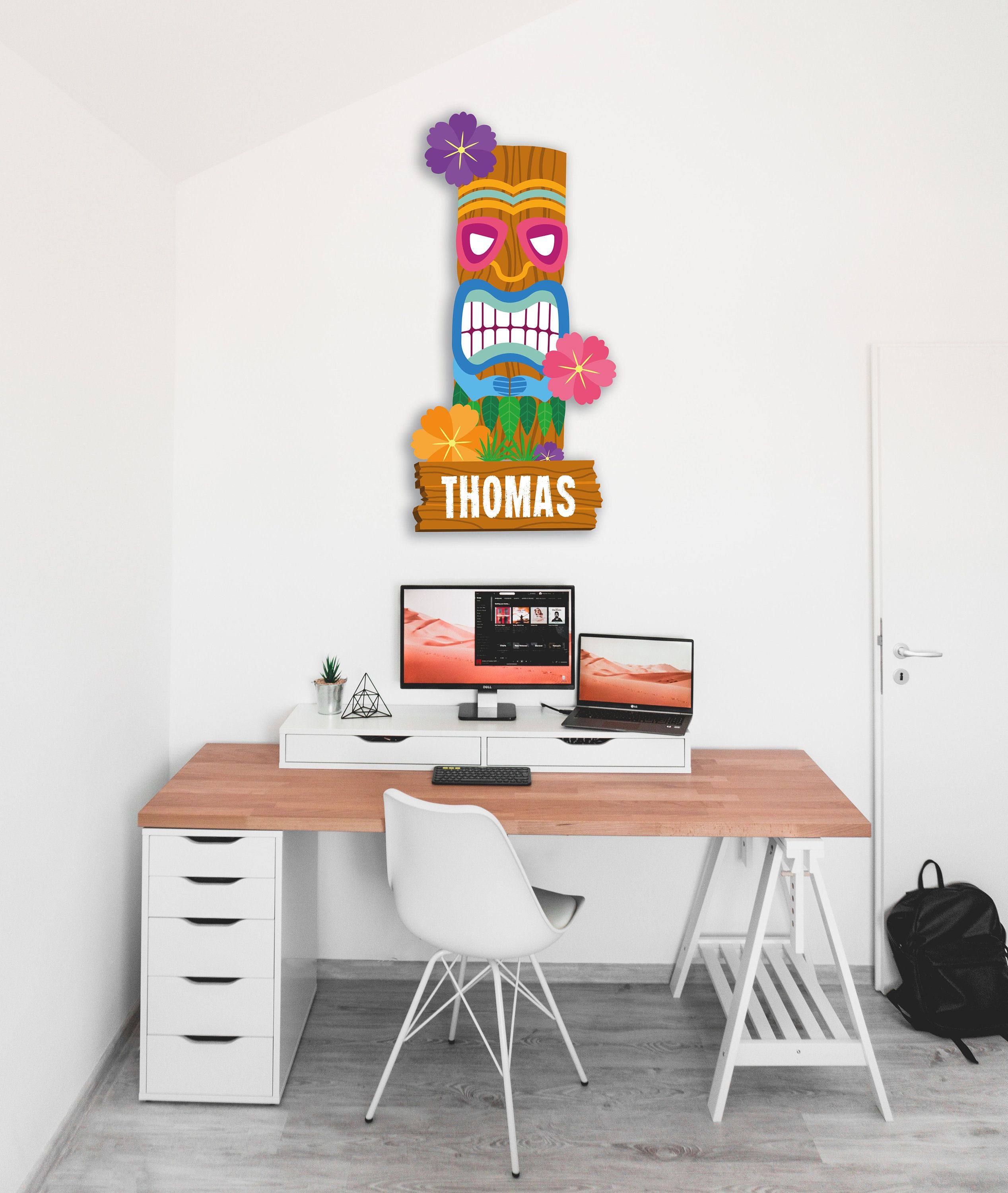 Totem Style Hawaii 80 X 50 Cm A Personnaliser Totem Support Polystyrene Personnalise