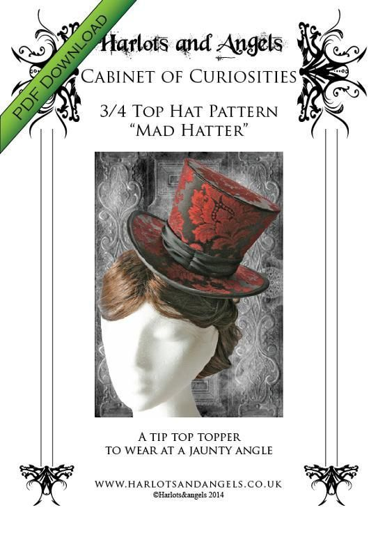 You re going to love Gothic Steampunk 3 4 Top Hat Pattern by designer  sharonkin4918492. 7a4482254d1