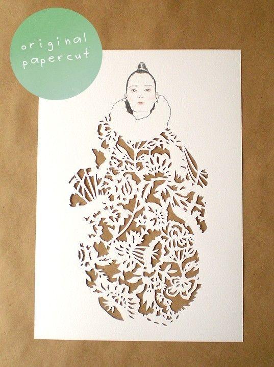 Romantic fashion papercut | Art journal inspiration and Journal ...