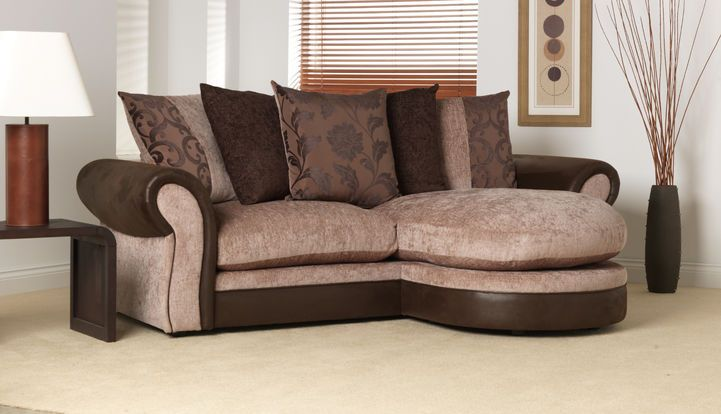 Jenny 3 Seater Chaise Sofa Scatter Back