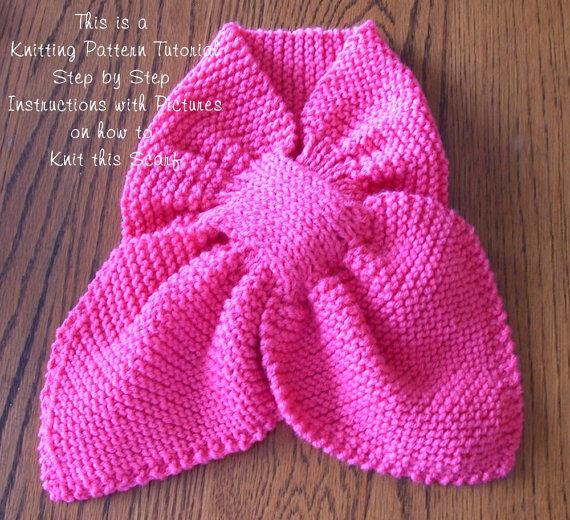 Tutorial Key Hole Scarf Make It Yourself Ascot Scarf Knitting