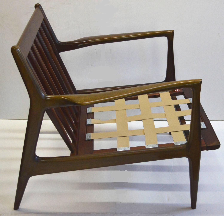 MidCentury Ib KofodLarsen for Selig Walnut Lounge Chair Mid