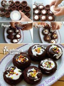 Porsiyonluk Ağlayan Pasta Tarifi, Nasıl Yapılır #donutcake