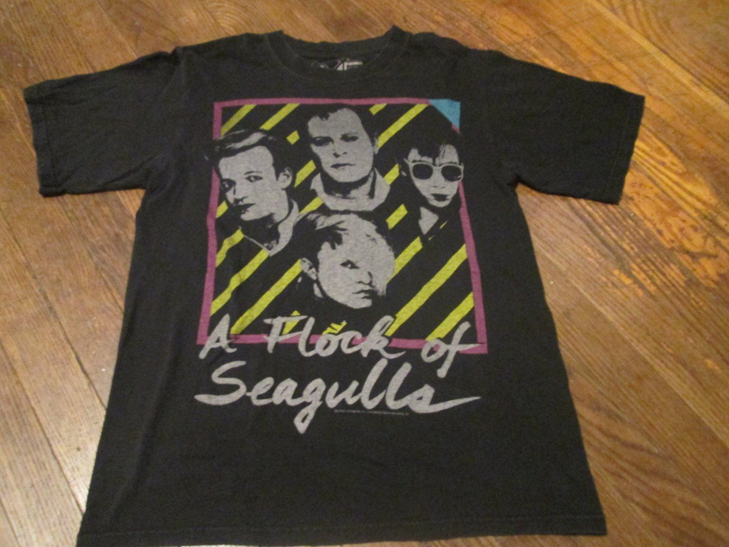 6753c9b0e Flock Of Seagulls 80s Graphic Band T-Shirt Size Small  www.4EverYoung.Ecrater.com