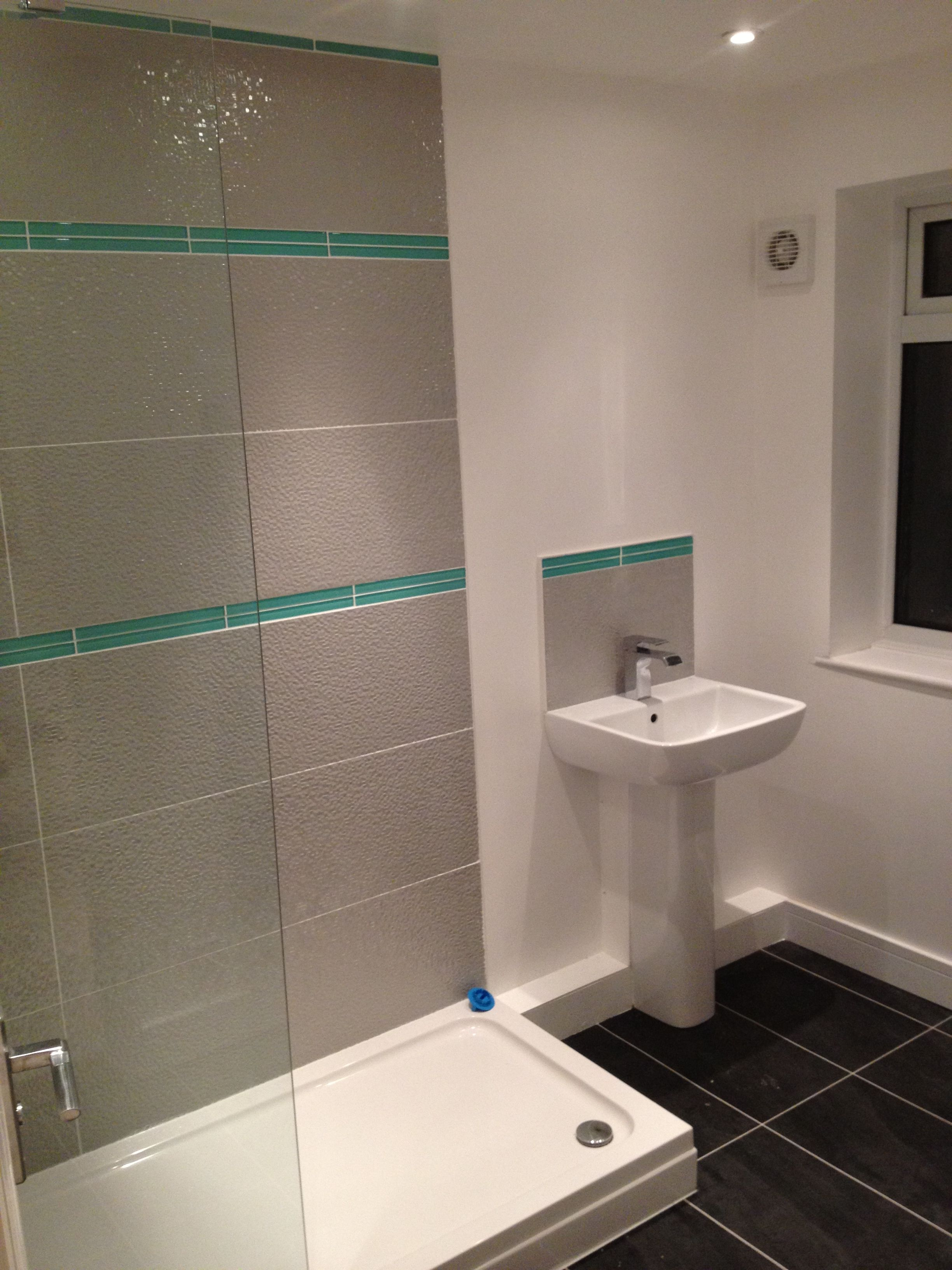 Ensuite Shower Room With Porcelenosa 1m Tiles In Gris With Style