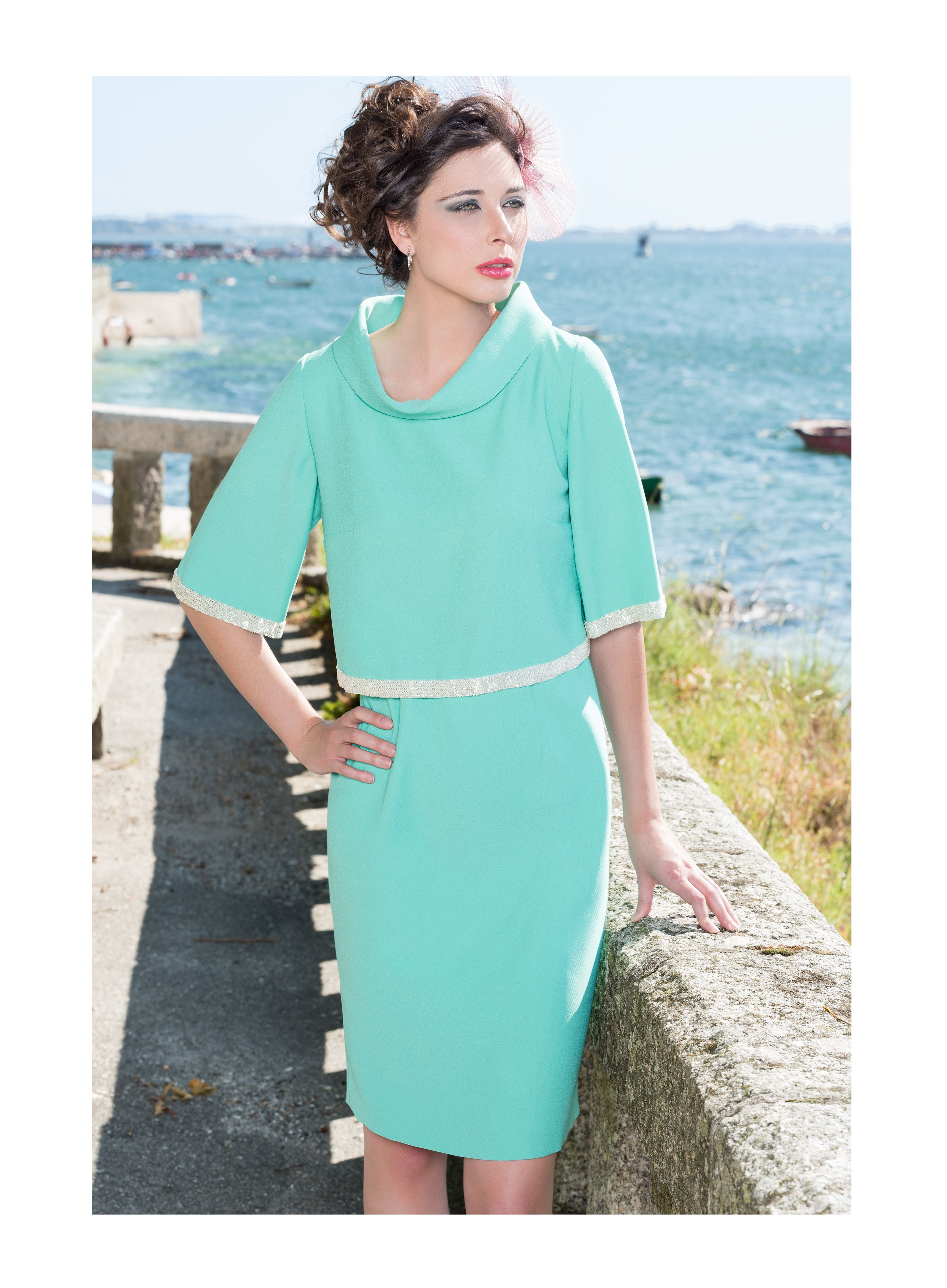 Dress with flattering over-lay great for flattering your figure ...