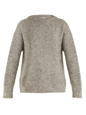 Add a cosy yet urban staple to your wardrobe with Acne Studio s Dramatic  round-neck light-grey sweater. It s knit from a super soft and cosy  brushed-knit to ... 55a240b8766