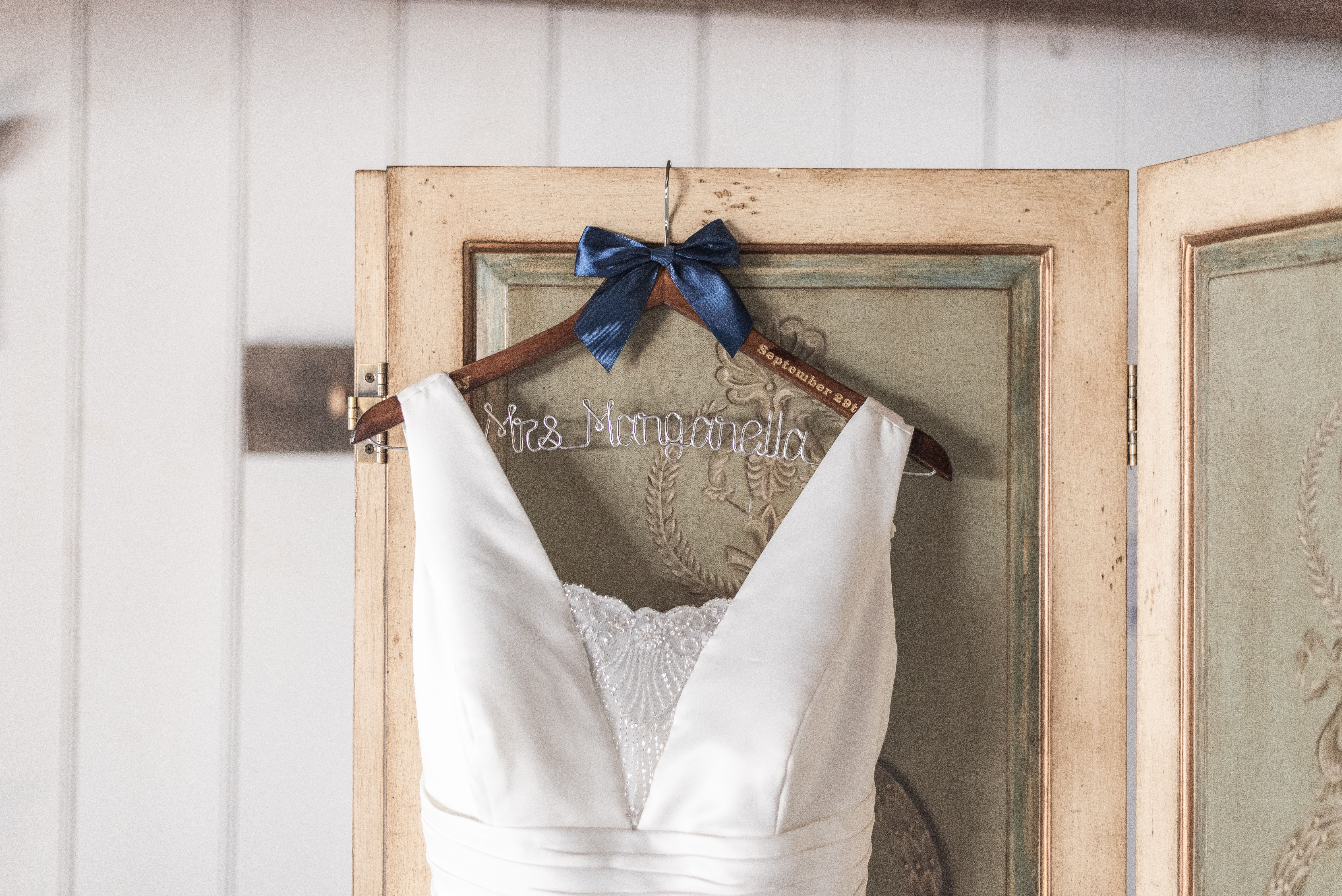 Wedding Dress Custom Hanger A Lovely Fall Autumn Melhorn Manor Wedding In Mount Joy Pennsylvania Wedding Photography Bride Hanger Airy Photography Wedding [ 4016 x 6016 Pixel ]