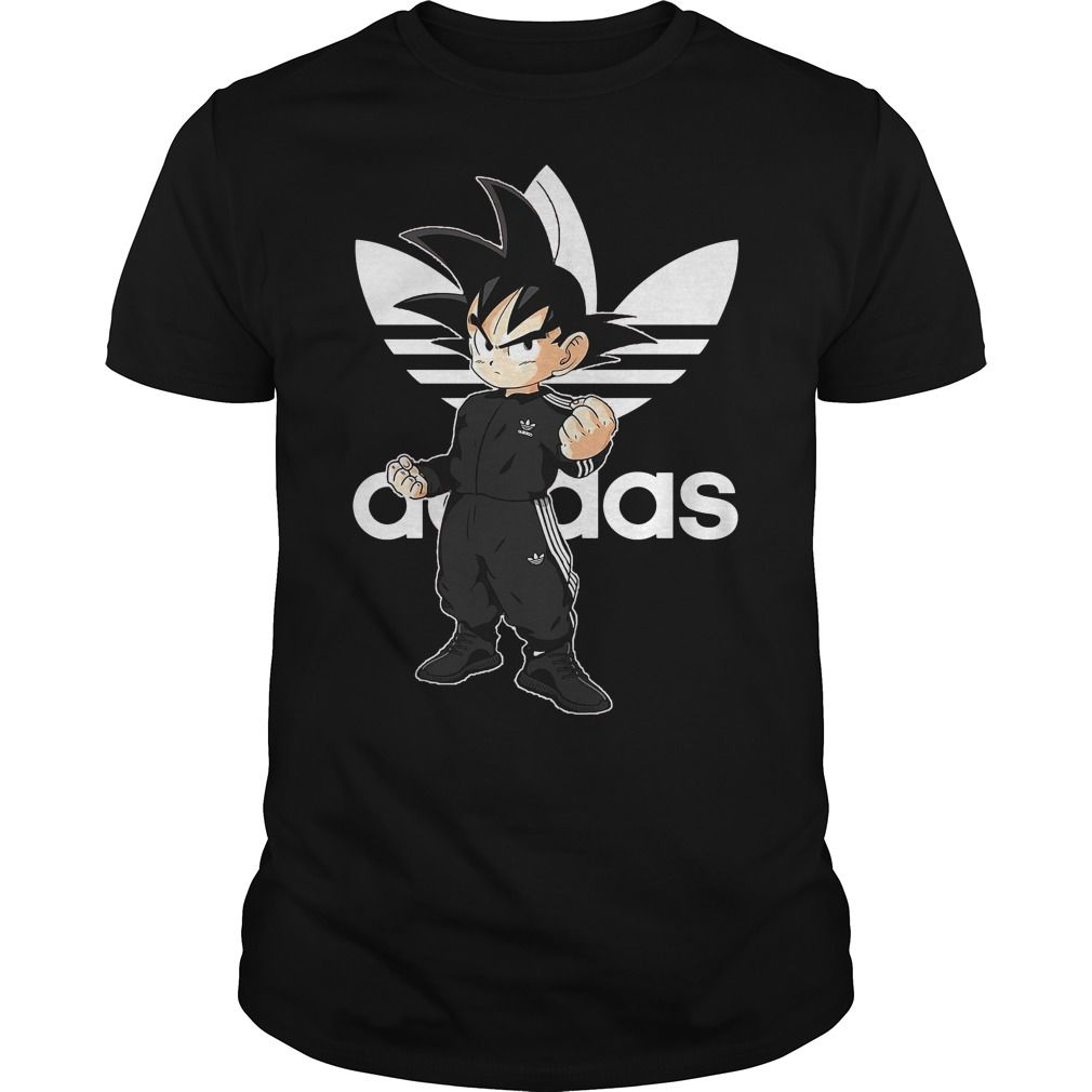 Dragon Ball Z Songoku Kid Adidas Shirt Hoodie Sweater And V Neck T Shirt Adidas Shirt Custom Shirts Dragon Ball Z [ 1010 x 1010 Pixel ]