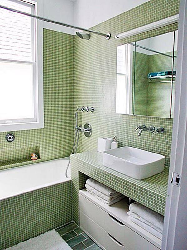 20 banheiros pequenos com banheira Banheiro pequeno