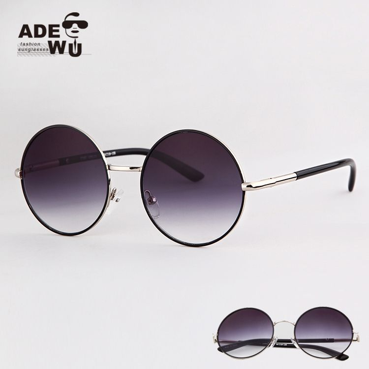 4fc3b9ab7fe64 Drop Shipping Vintage Sunglasses Men Round Glasses Steampunk Tea lens oculos  redondo Eyewear Sunglass