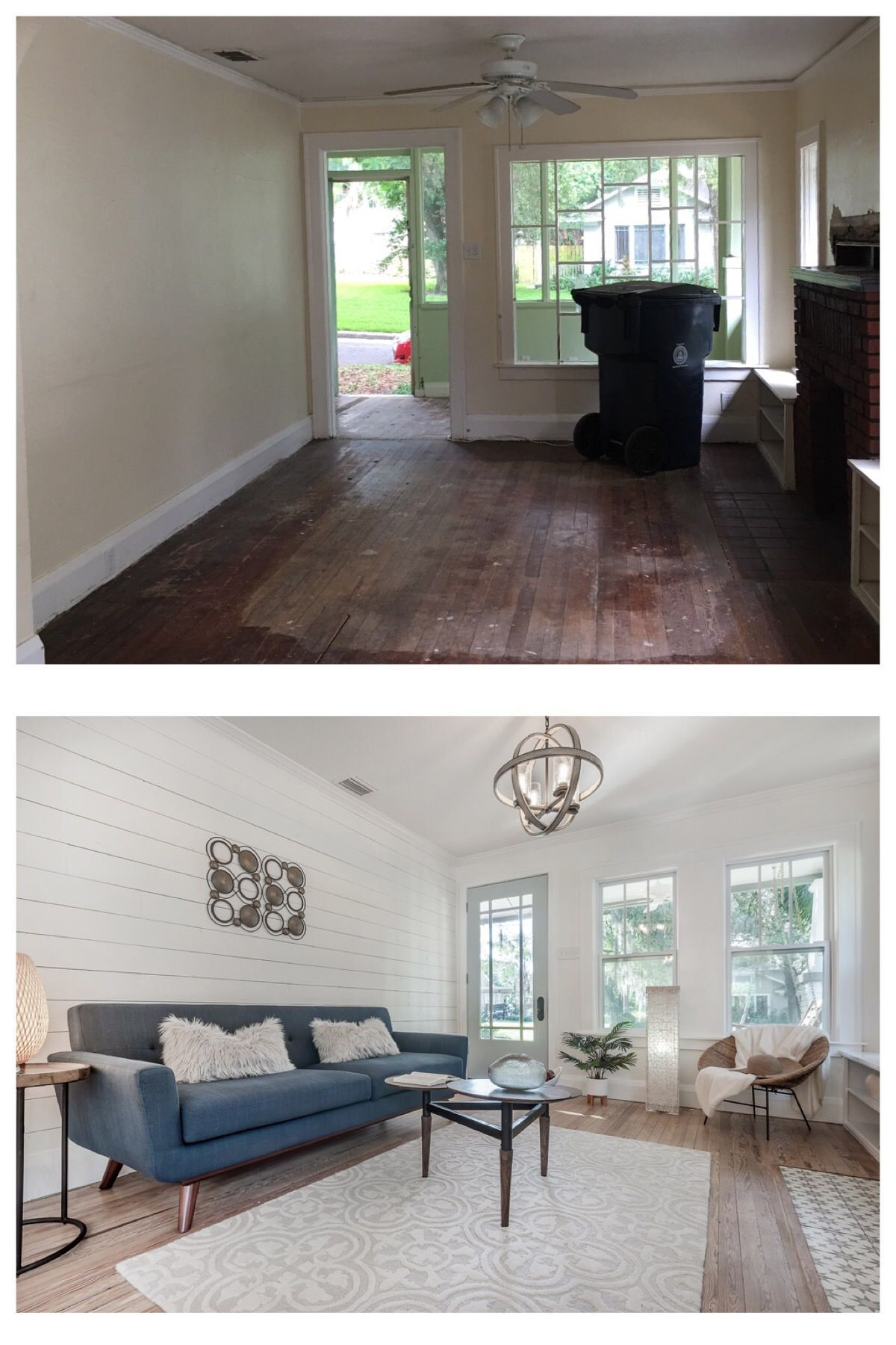 Bungalow Makeover Before And After Living Room Makeover