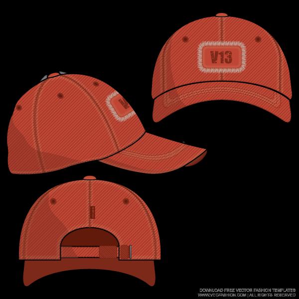 Baseball Cap Vector Template Vecfashion Fashion Design Template Technical Drawing Flat Drawings